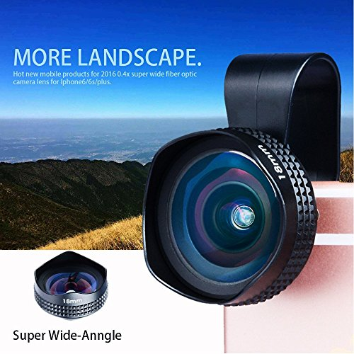 Evileye APL-18mm Wide Angle No Distortion Cell Phone Camera Lens with Clip for iPhone 6S 6 Plus Smartphone
