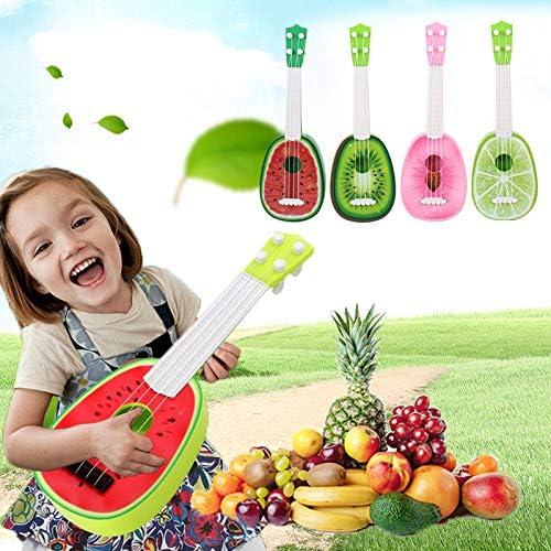 Jiayuane Candy Color Fruit rojo sand/ía Ukelele ukelele dise/ño de guitarra de 4 estilos