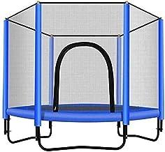 Met behuizing netto ronde trampoline met behuizingsnet □ outdoor en indoor trampoline voor kinderen huishoud/kantoor cardi...