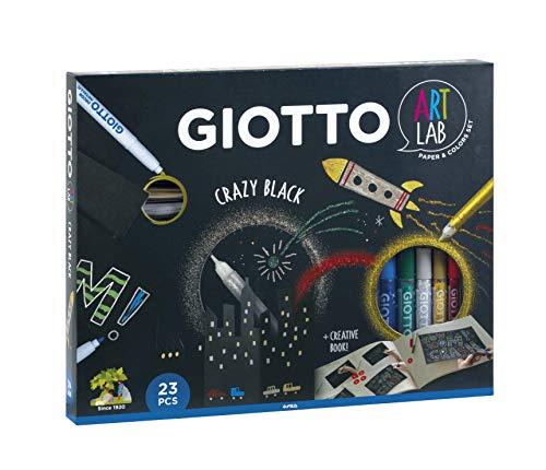 Giotto- Art Lab Crazy Black Kit Creativo, Colori Assortiti, 581600