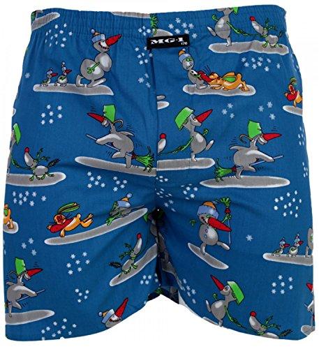 MG-1 Kinder Jungen Webboxer Boxershorts X-Mas Weihnachten Nikolaus Santa, Grösse:164, Präzise Farbe:Design 4