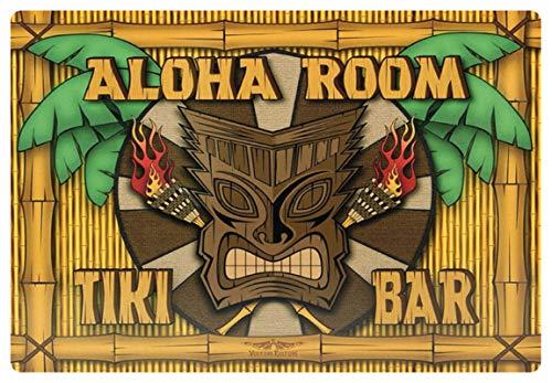 Blechschild 20x30cm gewölbt Aloha Room Tiki Bar Cocktail Music Deko Geschenk Schild