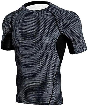 Men's Compression Shirts,Sunyastor Fitness Sports Shirt Long-Sleeve T-Shirts Workout Tee Gym Training Bodybuilding Skin Top
