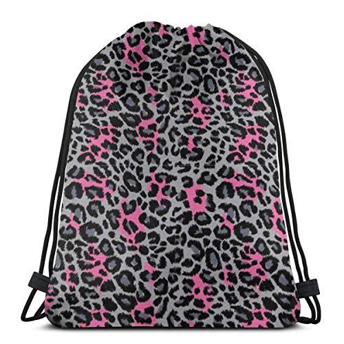 fgjfdjj Safari Animal Nature Cheetah Panther Rope Backpack - Bolso de Cuerda para Hombres, Mujeres, niños y Adolescentes - Mochilas de Gimnasio con cordón
