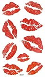 MapofBeauty Bright Watermelon Red Lip Prints Temporary Waterproof Tattoo Sticker(2 pcs/lot)