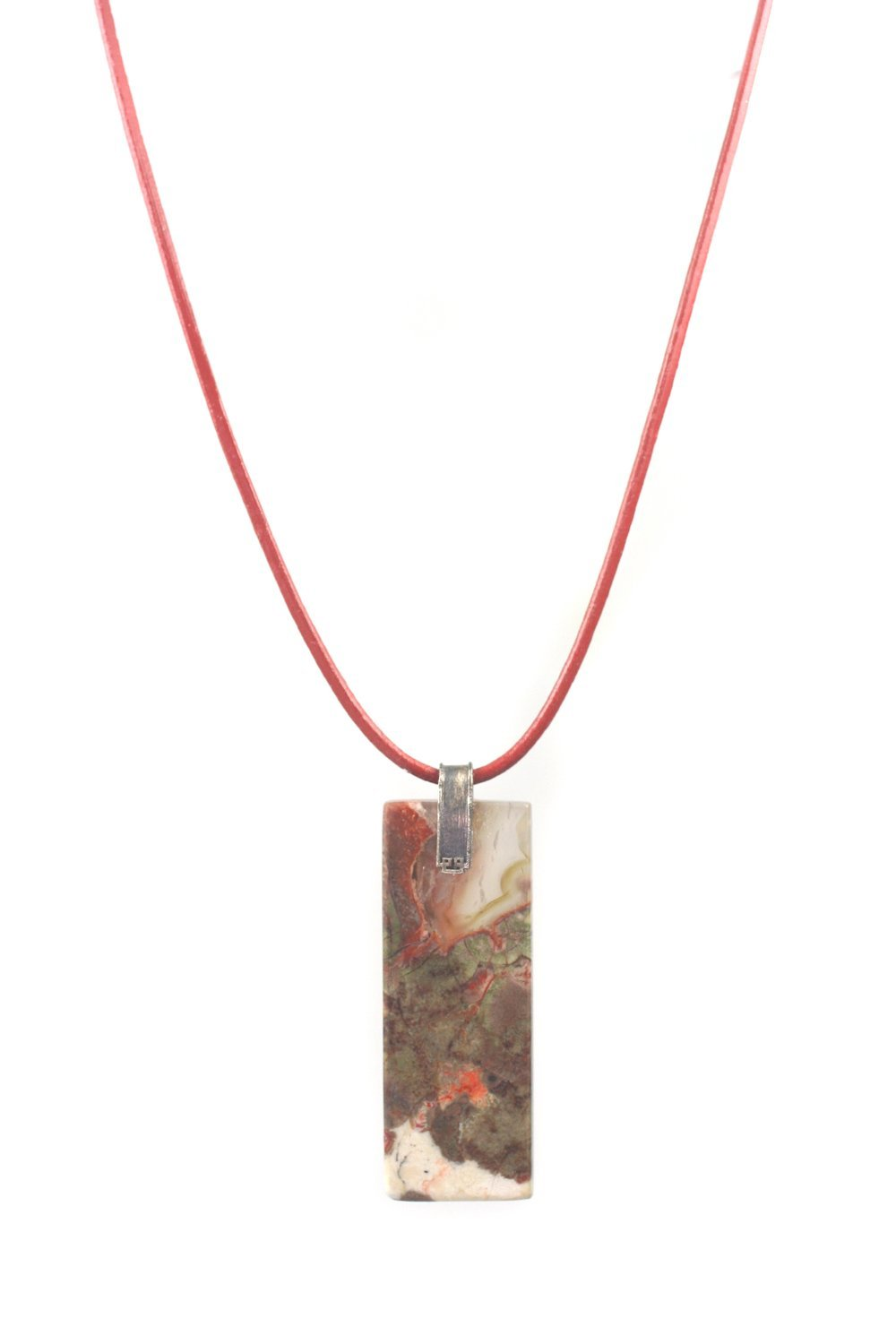 Price reduction one of kind unique necklace jaspers man Memphis Mall pendant