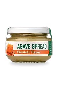 Health Garden Agave Spread – Flavored Agave Spread – Premium Organic Agave– 4.93 oz Jar (Caramel)
