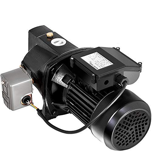 Happybuy Shallow Well Jet Pump with Pressure Switch 3/4HP Jet Water Pump 183.7 ft Cast Iron Jet Pump to Supply Fresh ell Water to Residential Homes Farms Cabins
