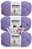 Bernat Baby Blanket Yarn - 3 Pack with Patterns - Lilac