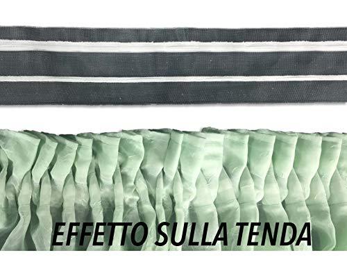 Bleistiftfaltenband für Vorhänge Vorhang Gardinenstange Locken Mod. Zig Zag A Metro
