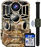 9. XTU WiFi Trail Camera 24MP 1296P Game Deer Hunting Camera with Infrared Night Vision Motion Activated Waterproof for Wildlife Monitoring, 32GB SD Card Included