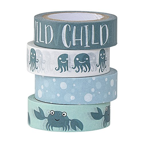 Bloomingville Tape, blau, Papier, 4er Set
