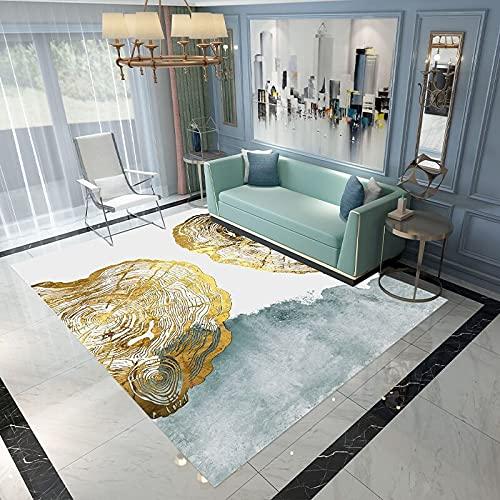 SunYe Alfombra De Impresión Geométrica Nórdica Alfombrilla Gruesa Antideslizante E Impermeable Adecuada para Dormitorio Pasillo Entrada