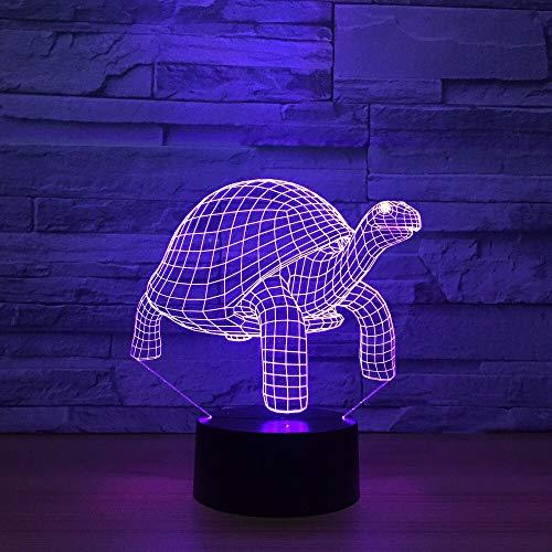 Kruipende Schildpad 3D 16-Kleuren Licht Zichtbaar Led-Nachtlampje, Gebruikt voor Kinderen Om Usb-Tafellamp Aan Te Raken Babyslaap Nachtlampje