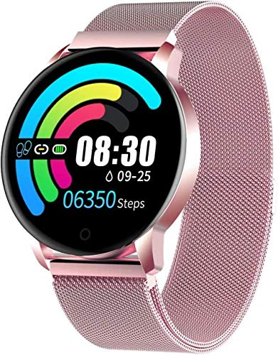 Smart Watch for Women Bluetooth Fitness Tracker Compatible with iOS Android Phone Sport Activity Tracker with Sleep/Heart Rate Monitor Calorie Counter-rose gold