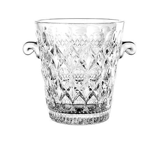YILIAN Vaso De Cristal Libre De Plomo Pequeño Cubo De Hielo Camarero Bar Talla Cubo Cubo Champán Coctel Hielo