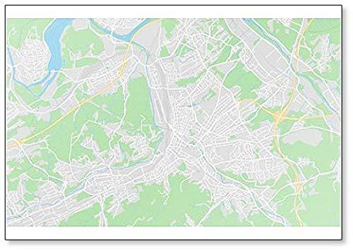 Hagen, Duitsland Kaart Illustratie Klassieke Koelkast Magneet
