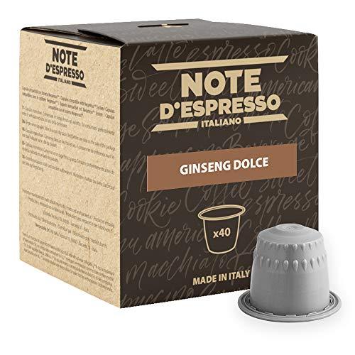 Note D\'Espresso Preparato Solubile per Bevanda al Gusto di Ginseng - 260 g (40 x 6.5 g) Esclusivamente Compatibili con le macchine per caffè a capsule Nespresso*