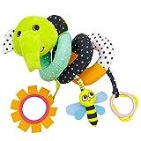 ACOC Cochecito y Cama de Dibujos Animados para bebés y niños Carrito en Espiral Asiento Cochecito para Colgar Juguetes Bebé de Dibujos Animados Animal Coche Colgante Sonajero Cama Campana Anillo