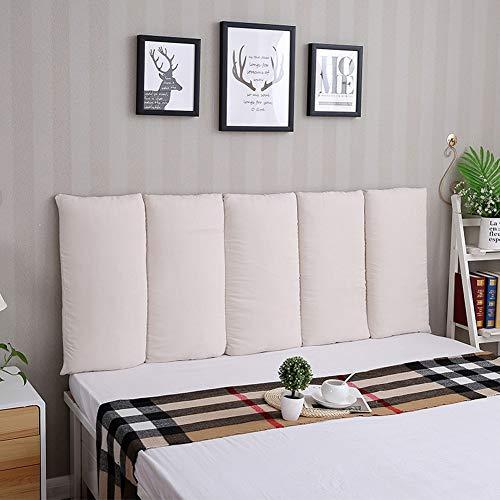 B-fengliu Headboard Headboard Cushion Soft Bed Pillow Single Or Double Wall Paste Large Backrest Waist Pad (Color : #7, Size : 200x60cm)