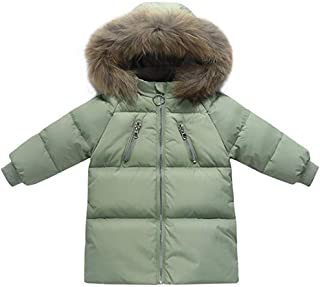 BAOPTEIL Toddler Girls Boys Winter Down Hooded Jacket Coat Kids Winterproof Warm Thick Outerwear Clothes