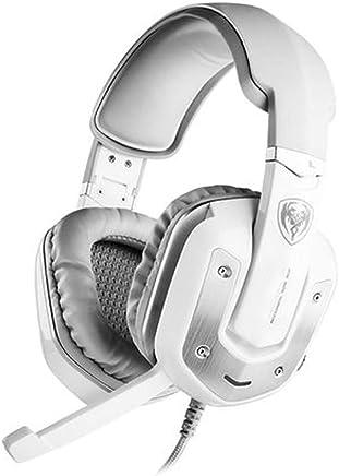 USB Gaming Headset - Dolby 7.1 Surround Sound Cuffie, Auricolare Stereo di Gioco per PS4, PC, Xbox Un Controller, Rumore annulla sopra Le Cuffie dell'orecchio con Il Mic,-RPO-White - Trova i prezzi più bassi