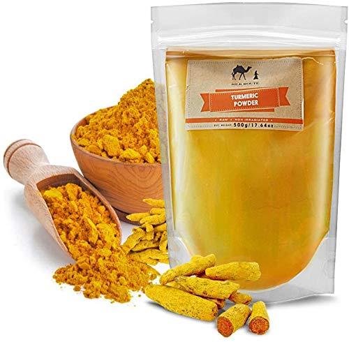Turmeric Powder 500g Resealable Pouch by Silk Route Spice Company High Grade Clean Treated Bulk Turmeric Powder