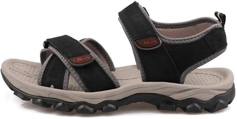 2018 Men's Sandals Outdoor Wild Casual Sandals Hiking Walking Trekking shoes Summer Sport Athletic shoes Open Toe Beach Flat Sandals Velcro Flip Flops Non-Slip shoes ( color   C , Size   44 )