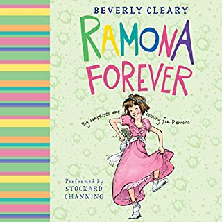 Ramona Forever                   By:                                                                                                                                 Beverly Cleary                               Narrated by:                                                                                                                                 Stockard Channing                      Length: 2 hrs and 11 mins     62 ratings     Overall 4.6
