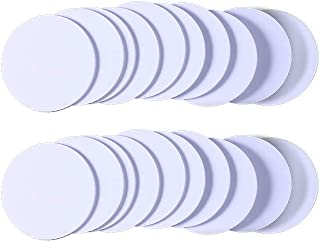 HOWWOH 10 Pieces Smart Card RFID T5577 125Khz EM4100 T5577 Chip Rewritable Waterproof 25mm Proximity Rewrite ID Coin Blanks Tags Sticker Label