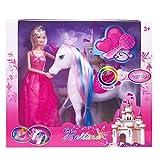 BETTINA Magic Light Unicorn & Princess Doll, Unicorn Toys Gifts for Girls, 2020 Christmas Birthday Gifts for Kids Aged 3 4 5 6 7