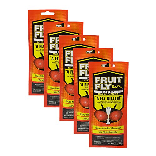 Fruit Fly BarPro Fly Strip – 4 Month Protection Against Flies, Cockroaches, Mosquitos & Other Pests – Portable for Indoor & Outdoor Use (5 Strips, Food Service Pack)