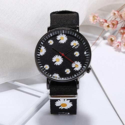 Powzz ornament Reloj de pulsera de nailon informal estudiante lienzo reloj de pulsera I