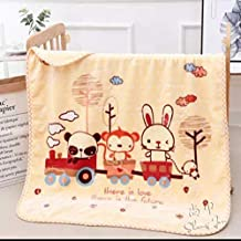 A Little Swag Ultra Soft Double Side Printed Woollen Fleece Sleeping Blanket Wrapper for Newborn Baby, 56 inches.