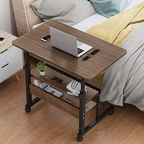 YWYW Mesa para computadora portátil Mesita de Noche Ajustable con Ruedas, Escritorio para computadora portátil para Lectura, Carrito para desayunar, postrado en Cama, Ancianos, Ayuda para pacient