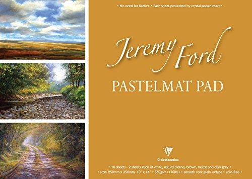 Jeremy Ford Pastelmat Pad Pastellpapier, 25x35cm, 10 Stück