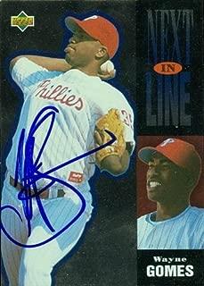 Autograph Warehouse 45506 Wayne Gomes Autographed Baseball Card Philadelphia Phillies 1994 Upper Deck No .17