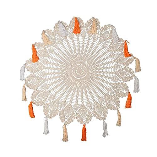 Itlovely Vintage hecho a mano Crochet Lace Doilies Boho redondo mantel...