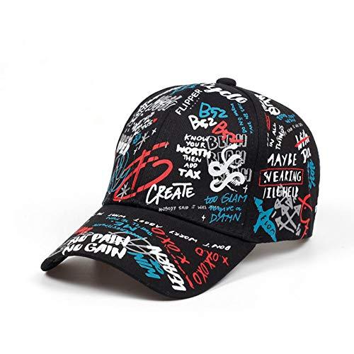 JUCC Baseball Cap Graffiti Sun Caps Hip Hop Hut Verstellbarer Snapback Lässige Outdoor-Sportkappe