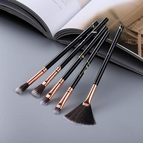 15pcs pinceaux de maquillage ensemble d'outils poudre cosmétique ombre à paupières fondation fard à joues mélange beauté maquillage pinceau-Oeil 5pcs noir