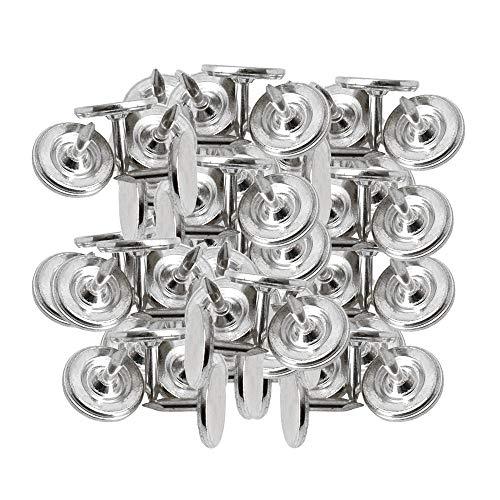 Yibuy 100 x Silver 8mm Round Flat Head Furniture Upholstery Thumb Tacks Nail