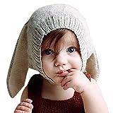CHIC-CHIC 0-5 Jahre Säugling Baby Strick Mütze Fleece Kappe Kaninchen Ohren Hut Hase Kinder...