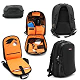 JetPack Slim Backpack for DVS, Mobile, or Club DJ Gig Set, Bag Carry Laptop, Stand, Tablet, Headphone, Vinyl Records, USB Mobile Devices, Needle Case, Cables, Microphone & More. TSA Compliant (Black)