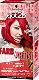 got2b Farb/Artist Haarfarbe, 092 Lollipop Rot, 3er Pack (3 x 113 ml)