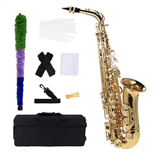 Andoer® bE Alto Saxofon Latón lacado Oro E Flat Sax 802