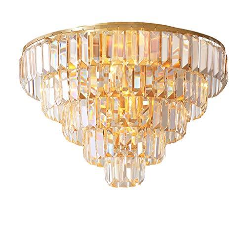Lámpara de Techo Moderno K9 Crystal Plafón Redondo Vestíbulo aplicable Pasillo Dormitorio Restaurante Habitación E14 Lámpara Luminaria de Techo (Size : M)
