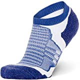 Merino Wool Socks Men and Women – Low Cut Cushioned Athletic Running Sock, Moisture Wicking (Blue, XL)