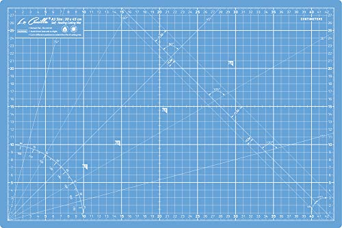 La Canilla Base de Corte Autocicatricante Patchwork A3 (45x30cm y 18x12) 5 Capas con Cuadrícula, para Costura y Manualidades (Azul)
