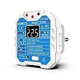 tester di presa, tester per circuiti elettrici, rileva 7 condizioni di cablaggio/visualizzazione tensione/test rcd/48-250 v/cat ii 300v