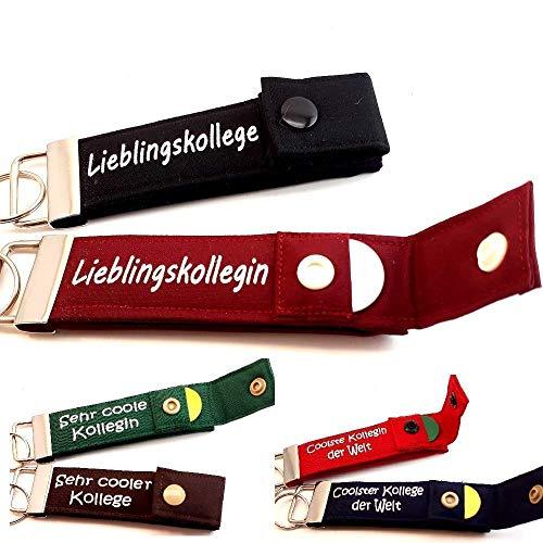 Geschenk für KOLLEGE oder KOLLEGIN Schlüsselanhänger mit Chip PERSONALISIERBAR Schlüsselband, 1 Stück